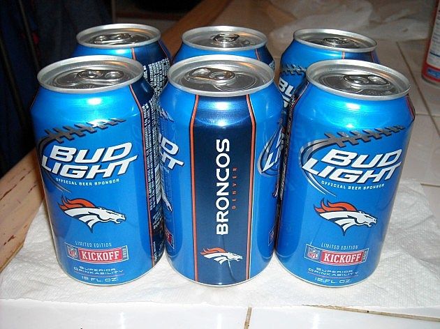 Broncos Beer Cans