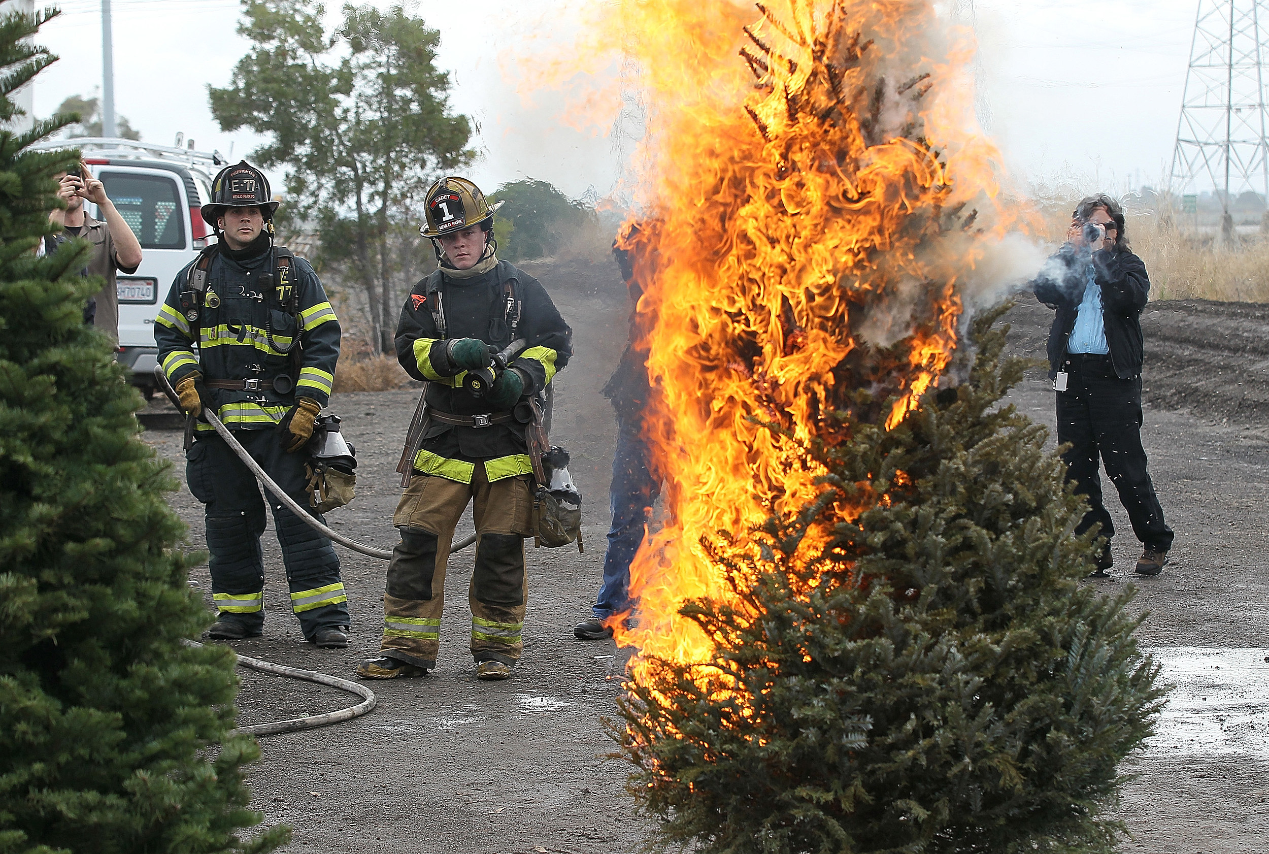 Do You Still Have Your Christmas Tree Up? - Christmas Trees On Fire