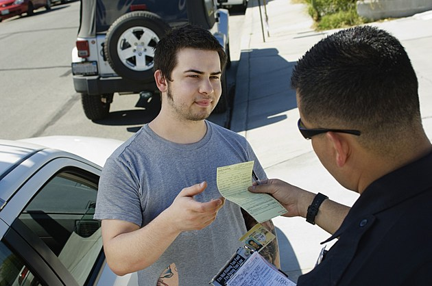Police Officer Writing Ticket