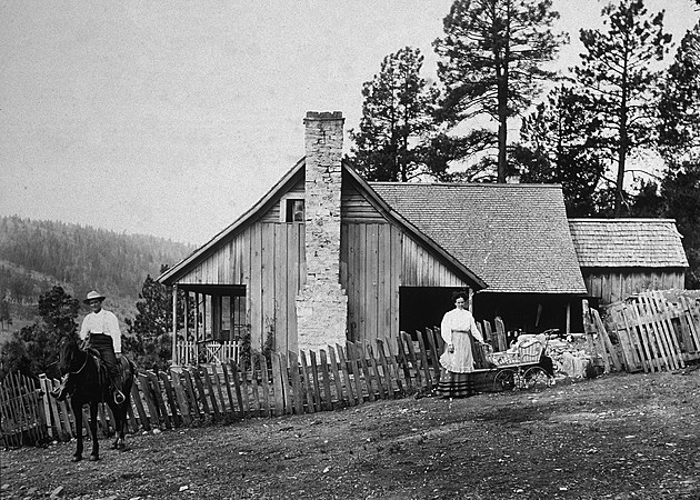 Old West Homestead Portrait